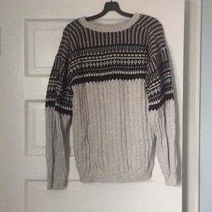 Vintage Oversized Grey Multi Colored Sweater
